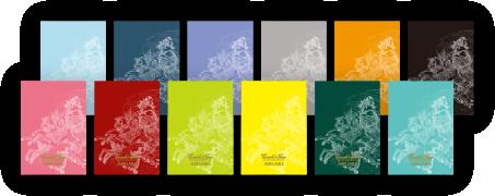 自由に選べる12色のオリジナルブックカバー