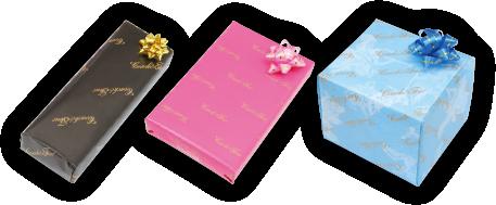 自由に選べる3色の包装紙ラッピング