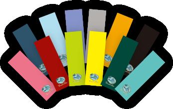 自由に選べる12色のオリジナルしおり